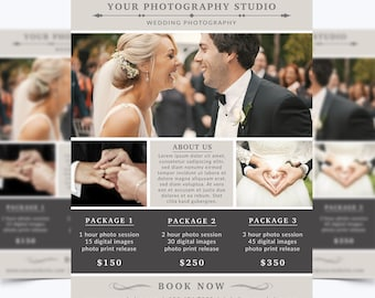 Photography Flyer Template 004 for Photoshop 8.5 x 11 - Photographer Template - Photography Template