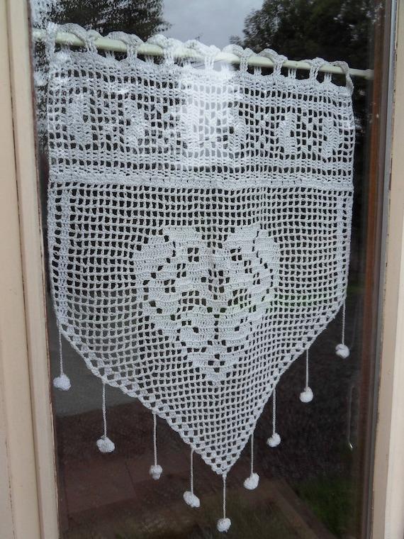 Rideau Crochet Coeur dentelle fine