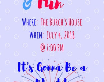 Fireworks and Fun Party Invitation
