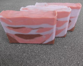 Cranberry Fig Cold Process Soap 3.6 oz.; Artisanal Handmade soap; Cranberry Fig Soap; Fall Soap; Christmas Soap; Thanksgiving Soap
