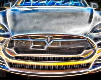 Tesla Luxury Electric Car - Fine Art Photograph Print Picture