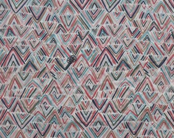 Filoli, The Frolic Line by Cloud9 Fabrics Painterly Abstract Print On Off-White, Semi-Sheer Batiste 100% Organic Cotton, Half Yard