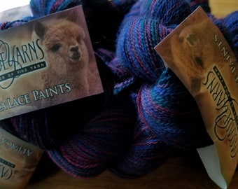Alpaca Lace Paints in Blue