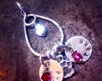 Unique Custom Two Tiered Sterling Silver Charm Holder -Medium Size - Handmade to Order