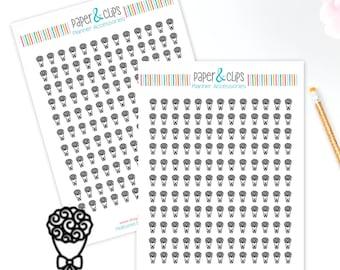 143 Roses Sticker Sheet, Happy Planner Stickers, Clear Stickers, Transparent Stickers, ECLP, Erin Condren, Belle Rousseur
