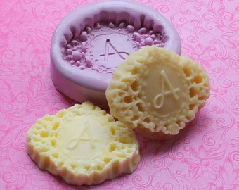 Monogram Butter Mold, Holiday Butter Mold, Monogrammed Mold, Soap Mold, Fondant Mold, Stocking Stuffer, DIY Gift Mold, Resin Fondant Mold,