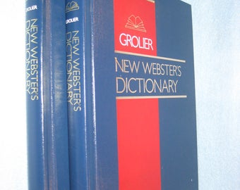 Books-Grolier New Webster's Dictionary - 1992 -2 Volume Set