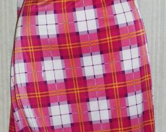"""Fabric Polyester Plaid Fabric Red, ~60"""" Wide~By the Yard~New~Ships Free"""