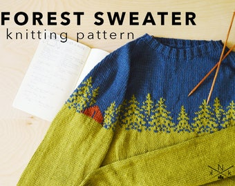 Forest Sweater Knitting Pattern