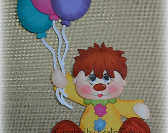 Floating Clown Scrapbooking Embellishment Paper Piecing