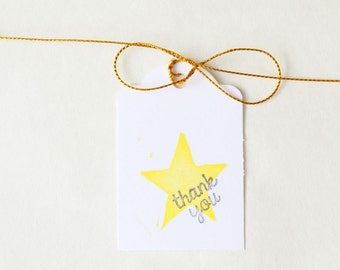 TWINKLE TWINKLE little star favour tags, gift tags, thank you tags, STAR favour bag tags, water bottle tags X 10