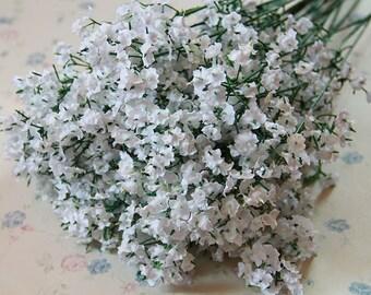 20 Bouquet Silk Baby's Breath Artificial Wedding Flowers Decor Silk Baby's Breath  Flowers Bridal Bouquet Flowers(131-50)