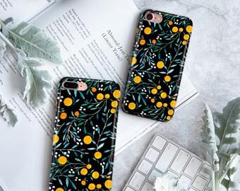 Oranges on Black phonecase, orange case, nature case, iPhone 8 Case, iPhone 8 Plus Case iPhone 7 Case, iPhone 7 Plus, Case iPhone 6s Case,