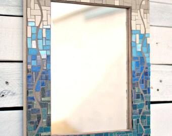 Mosaic Wall Mirror, Decorative Mirror, Glass Mosaic Mirror, Mosaic Decor, READY TO SHIP