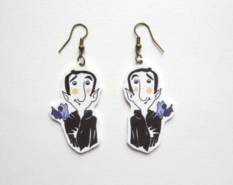 Mr Vampire and his bat Lily earrings