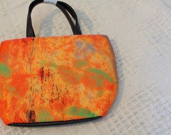 small purse with my art design