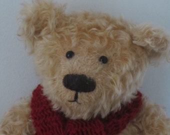 NEW PRICE!!  -  Lester - a O.O.A.K. hand stitched mohair artist bear.