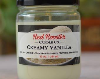 Creamy Vanilla 100% Soy Candle