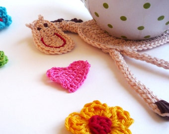 Horse Coasters - Crochet Coasters - Horse decor - Horse Gift - Horse Applique - Kids Coasters - Crochet Tableware - Set of 2 - Gift for Kids