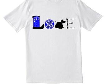 """Kids """"Doctor Who LOVE"""" tee shirt"""