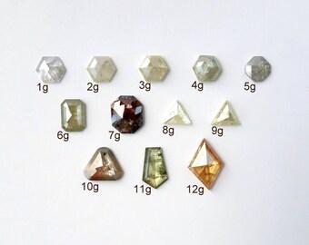 Geometric and Marquise Rose Cut Diamonds - Deposit