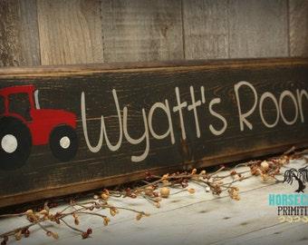 Boys Room Decor, Personalized, Tractor Decor, Custom