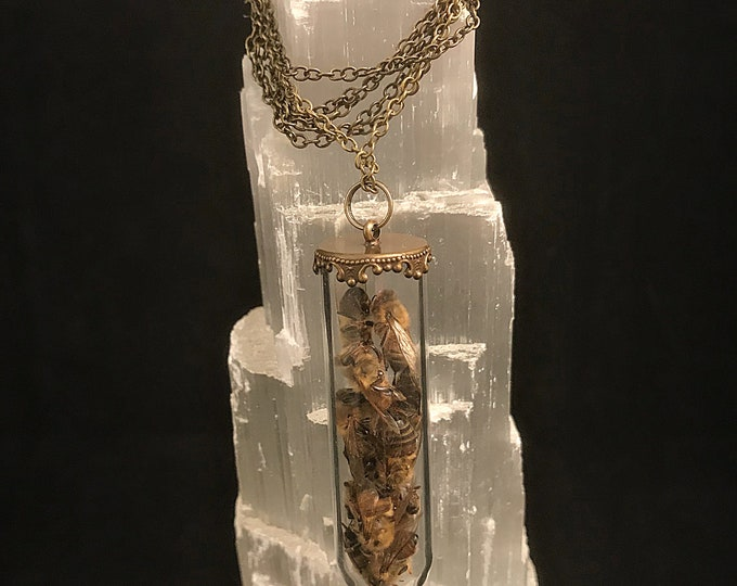 Honey Bee Tube Necklace