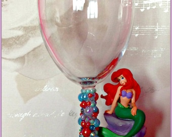 Disney Little Mermaid Wine Glass