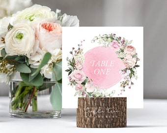 Table Number Cards - Roses in Bloom (Style 13807)