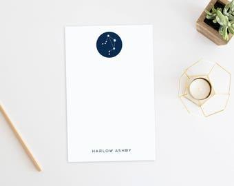 Personalized Notepad. Personalized Note Pad. Personalized Stationery. Stationary. Constellations. Science. Horoscope. Zodiac Constellations.