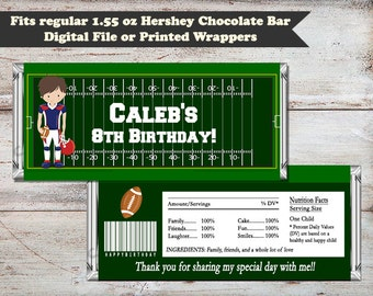 Football Candy Bar Wrappers, Sports Party Favors, Football Wrapper, Sports Candy Wrapper, Football Party Favor, Digital or Printed