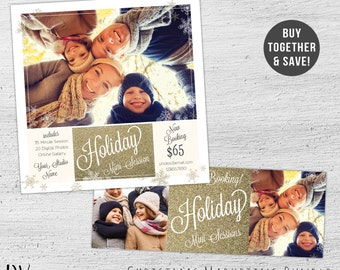 Holiday Mini Session Template, Christmas Marketing, Facebook Timeline Cover, Christmas Mini Session, Photoshop Template, Holiday Mini