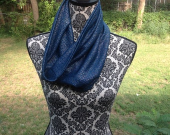 Teal Lace Cowl