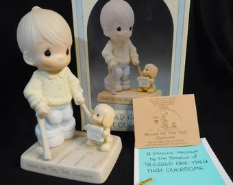 1987 Precious Moments Easter Seals Figurine (115479) - Blessed Are They That Overcome, NIB