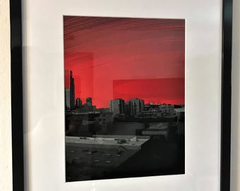 Red Sunset over the City