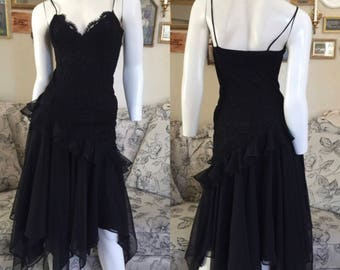CASAEDI Lace Ruffle Dress Size:6