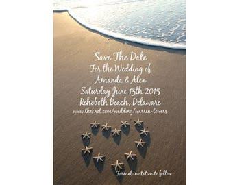 Save The Date Beach Wedding Photo Invitation Digital File
