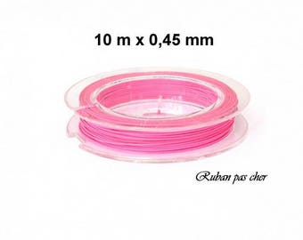Spool of 10 meters of wired 0.45 mm - pink - cheap!