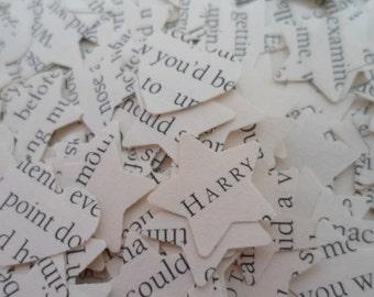 1000 Harry Potter  Wedding  Party  Novel Book Confetti Stars and Hearts