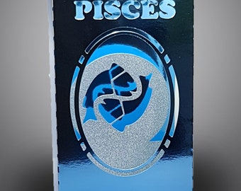 Pisces Zodiac box card with envelope template