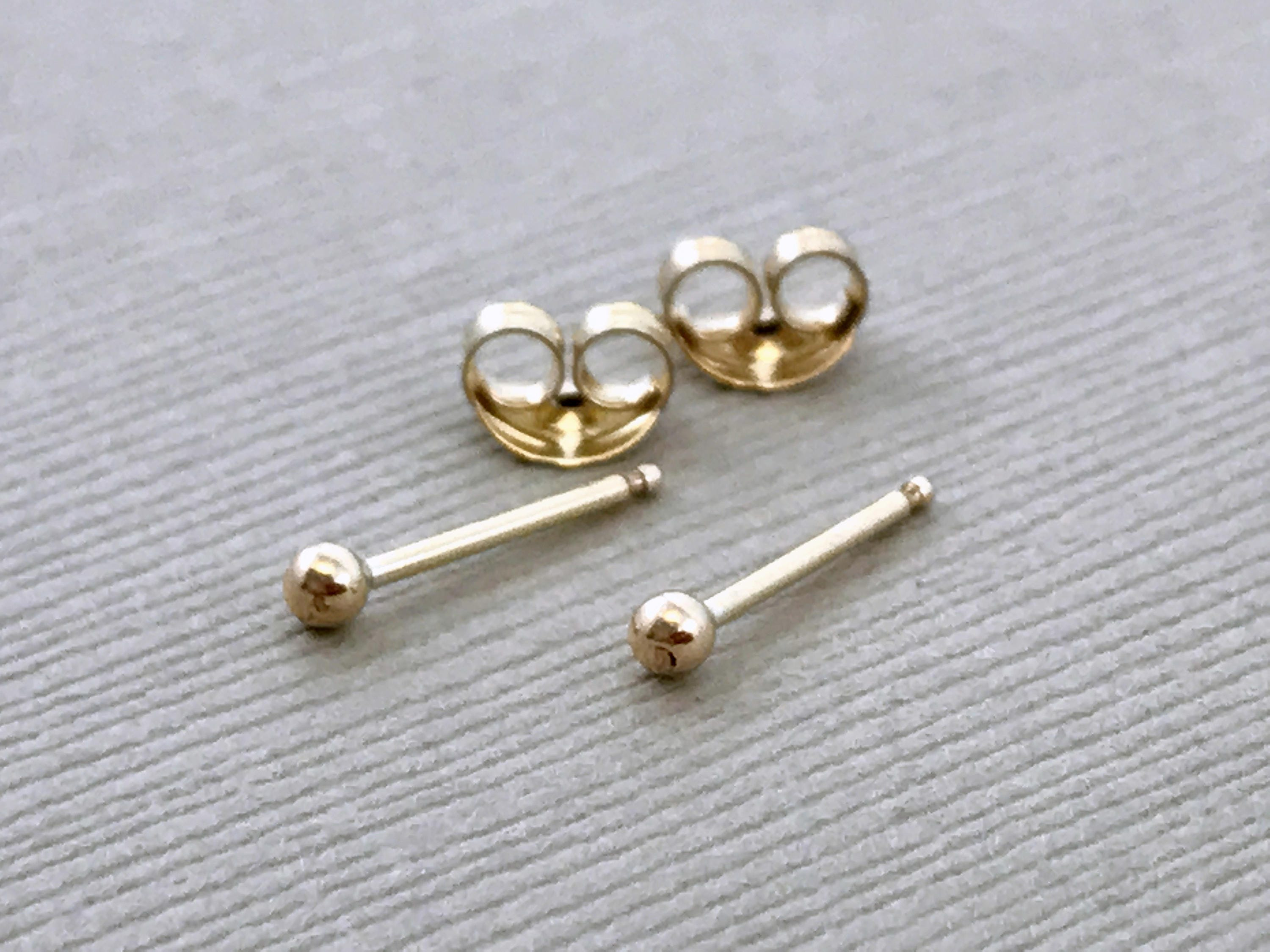 fba rose gold small earrings products beauniq ball bmd stud