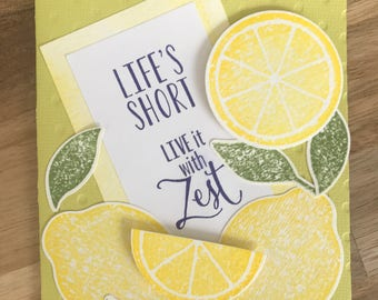 Zesty Lemon Greeting Card
