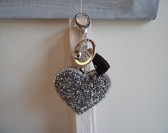 Keychain, bag charm, heart