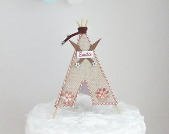Teepee Tribal Pow wow Cake Topper