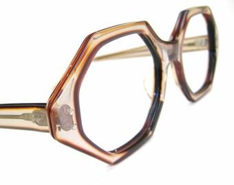Vintage 60s Octagon Eyeglasses or Sunglasses Frame NOS