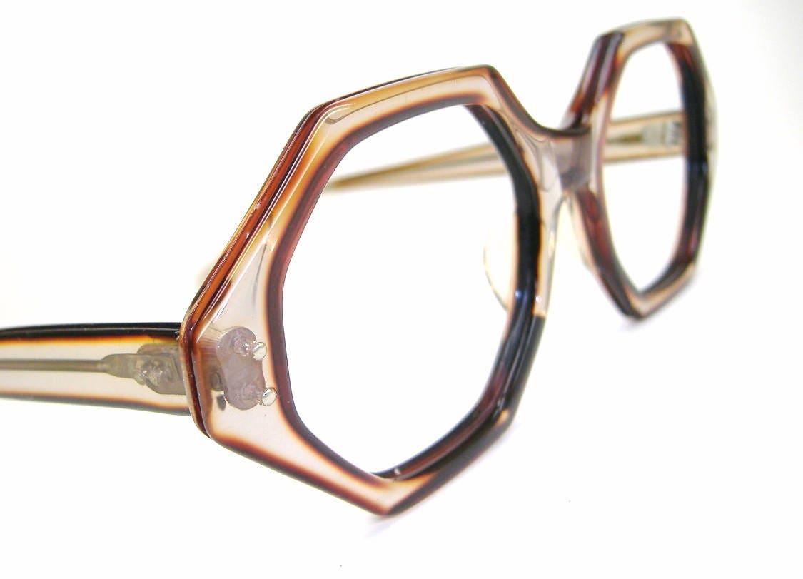 Vintage 60er Jahre Octagon Brille oder Sonnenbrille Rahmen NOS