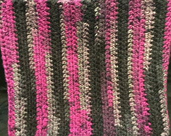 Crocheted Striped Cowl