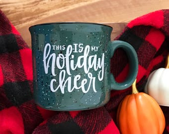 15oz Green Campfire Holiday Cheer Mug