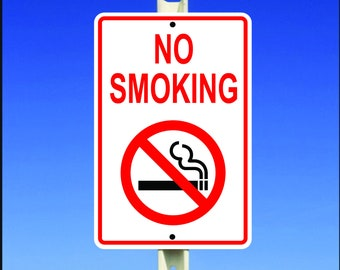 No Smoking Aluminum Metal Sign