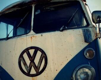 surf art // vw van art print // surfer bedroom // volkswagen van art print - VW, photograph art print
